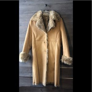 Brandon Thomas faux leather/fur coat